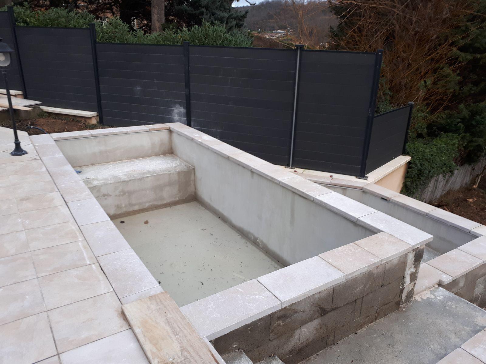 construction du bassin en beton www