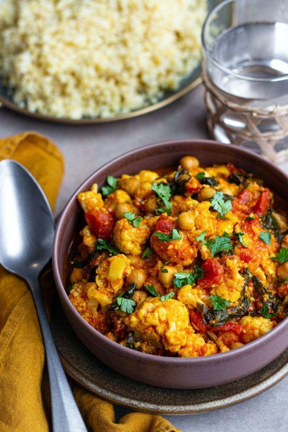 curry cauliflower coconut cookeo