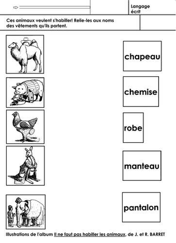 Il Ne Faut Pas Habiller Les Animaux : habiller, animaux, Animaux, école, Maternelle, Gellow