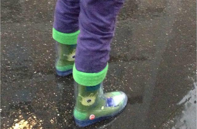 les bottes de pluie a chaussettes i