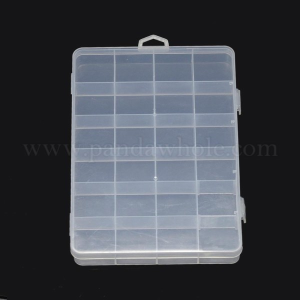 Plastic Bead Storage Containers 24 Compartments