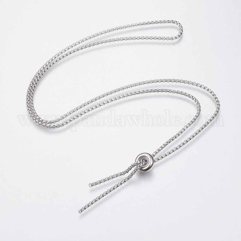 China Factory 304 Stainless Steel Box Chain Necklace