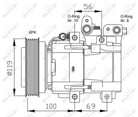 Air Con Compressor 32755G NRF AC Conditioning 977012E200