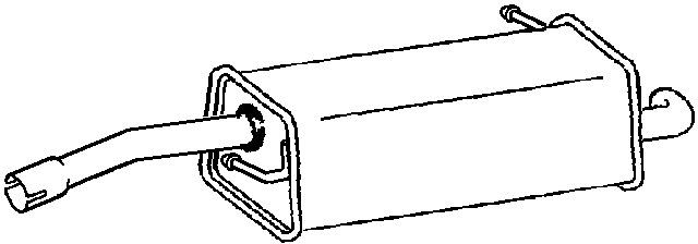 FORD FIESTA Mk5 1.4 Exhaust Back / Rear Box Klarius