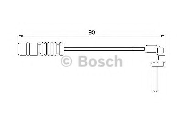 Brake Pad Wear Indicator Sensor 1987474901 Bosch Warning