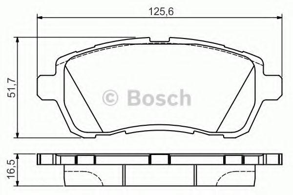FORD FIESTA Mk6 1.5D Brake Pads Set Front 12 to 17 Bosch