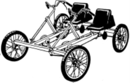 Pedal car, 1 or 2 Seat Car Bike plans, DIY Adult Recumbent