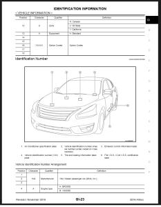 2016 Nissan Altima L33 Service Repair Manual & Wiring