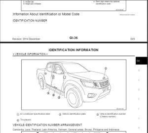 Nissan Navara D23 2014 Service Manual & Wiring Diagram   eBooks   Technical