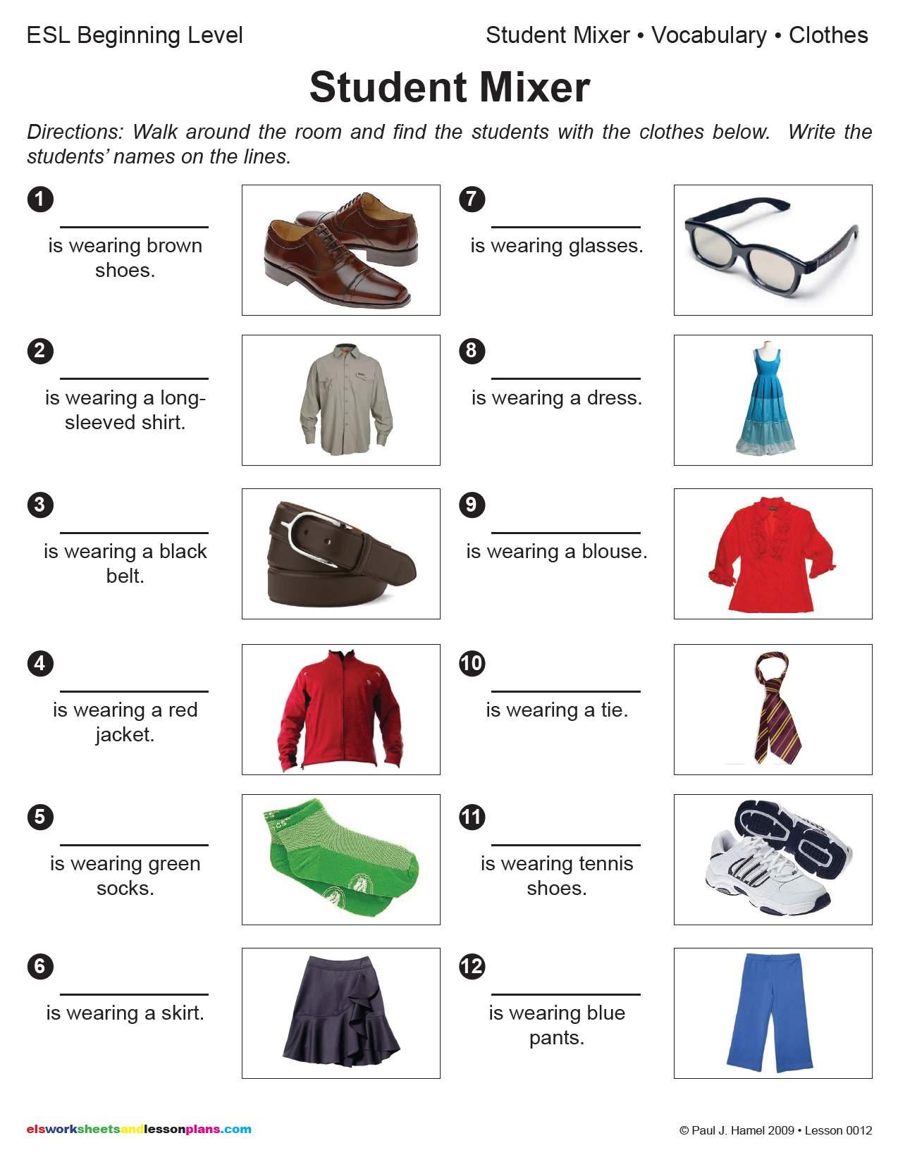 Esl Student Mixer Clothes