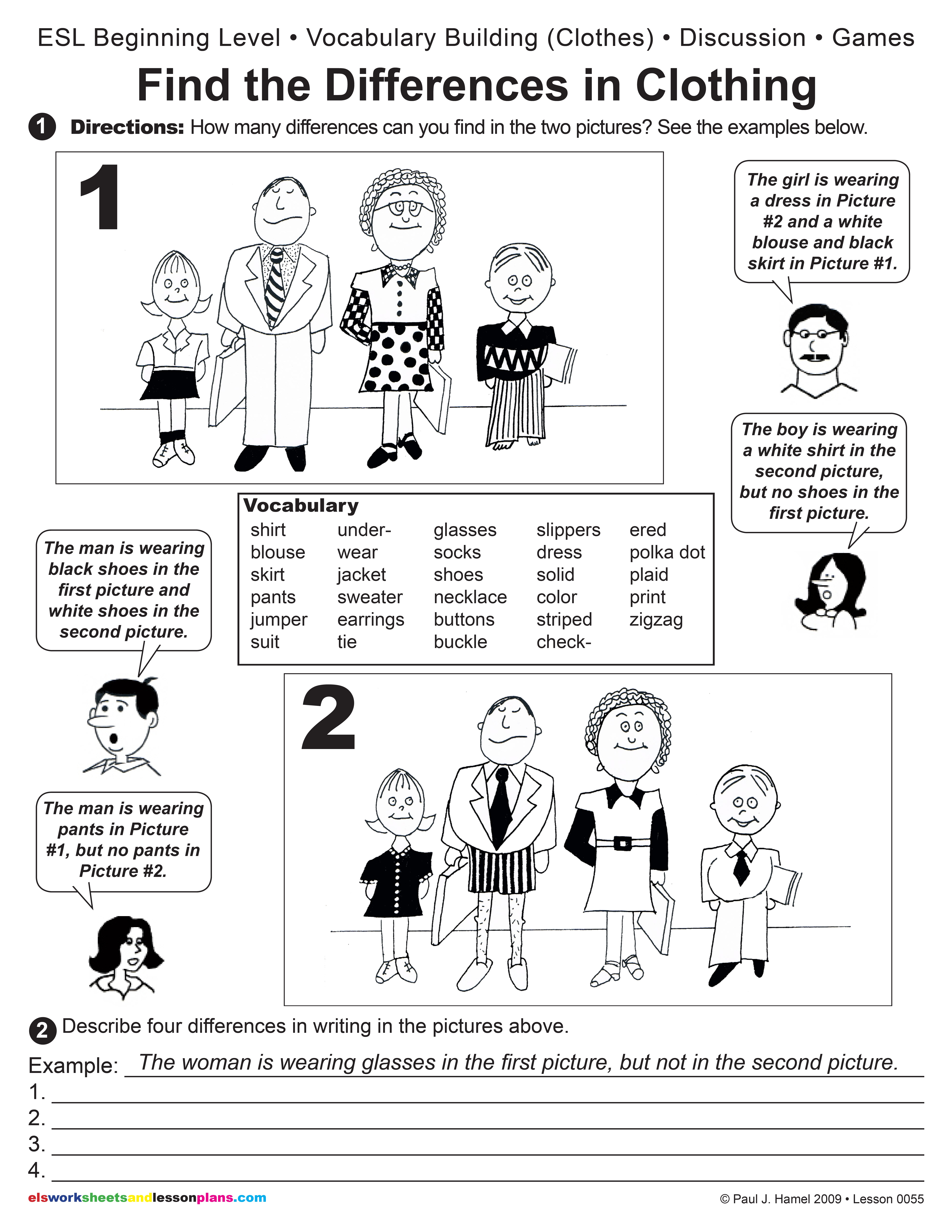 Clothing Esl Worksheets