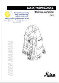 Leica TC605/805/905/L Electronic Total Station User Manual