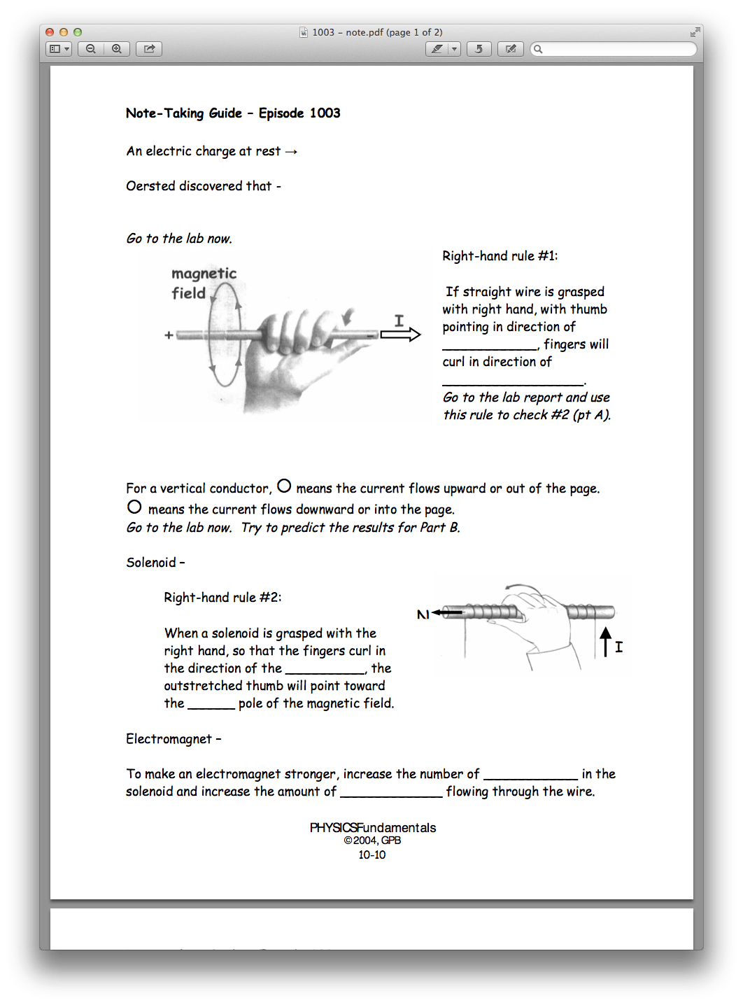 Printables Of Physics Lab Worksheet Chapter 10