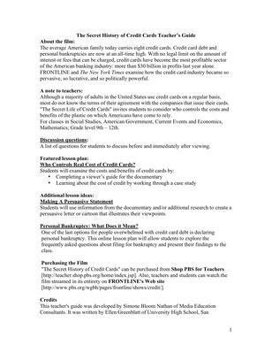 The Secret History Of The Credit Card Worksheet Thedoctsite