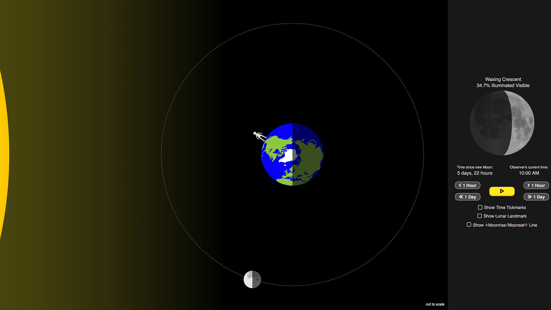 Lunar Phases Simulation