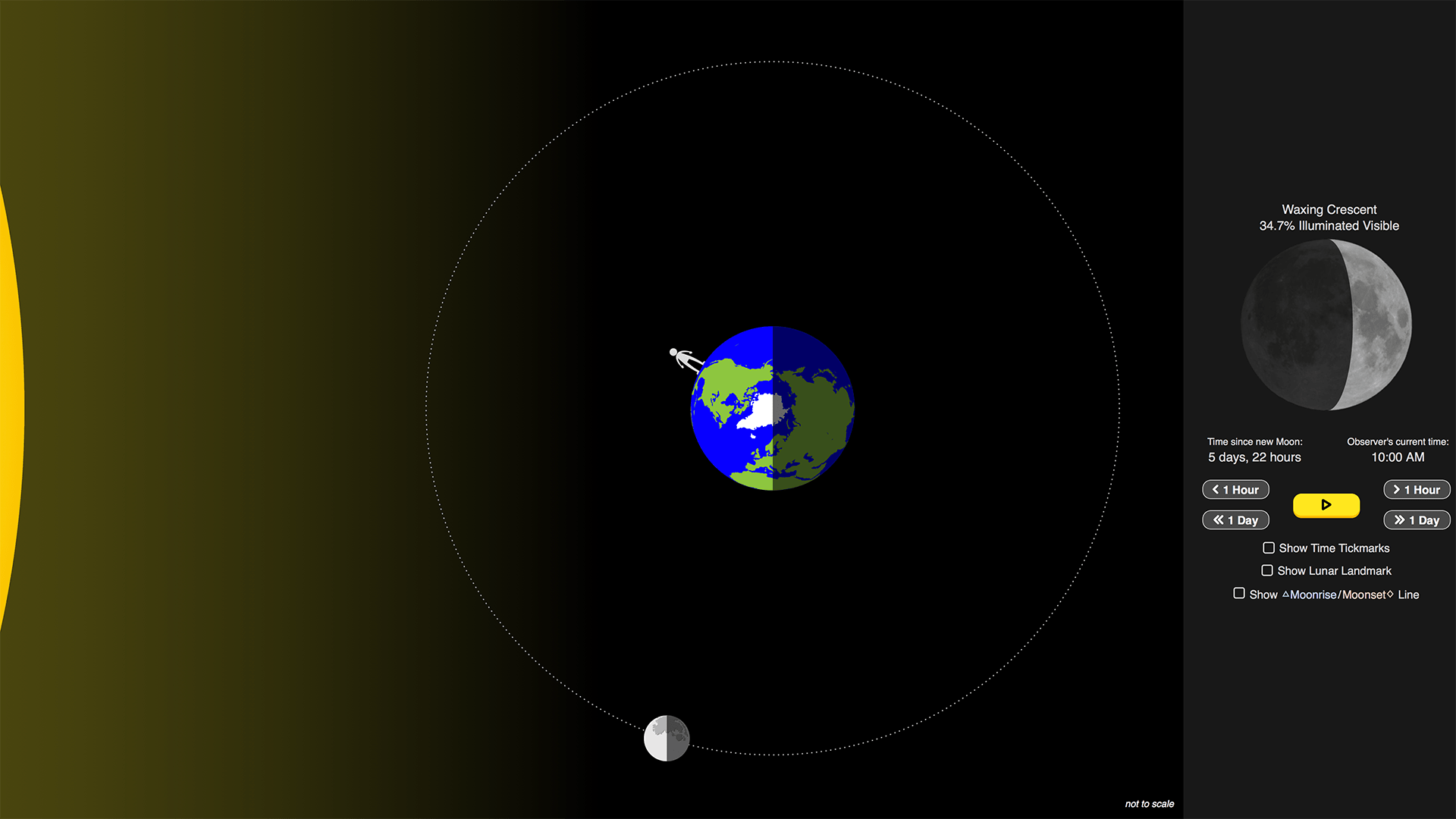 hight resolution of Lunar Phases Simulation   PBS LearningMedia