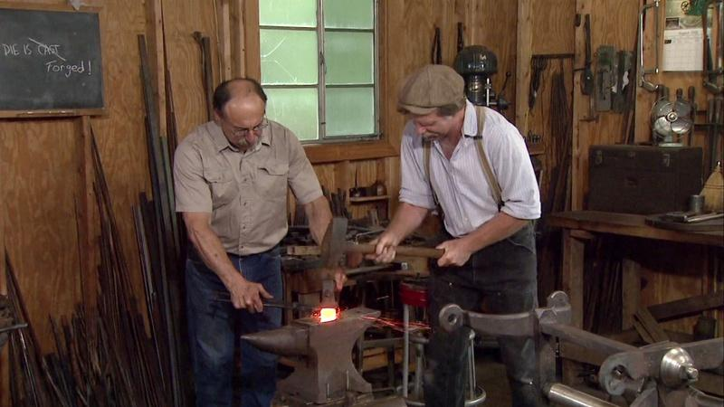 revolving chair features high back office chairs blacksmith ironworks | watch episodes by topic online woodwright's shop pbs