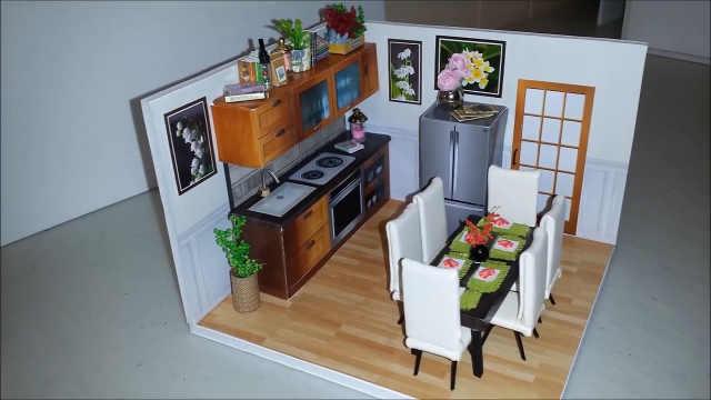 tiny house kitchens kitchen cabinet set diy创意小房子 明亮的开放式厨房 小玫手工 梨视频官网 pear video