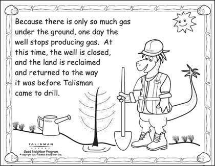 Gas drilling company nixes coloring book featuring