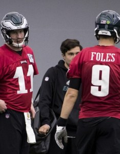 Nick foles is atop the eagles  quarterback depth chart while carson wentz recovers from an acl tear ap photo chris szagola also philadelphia spring offensive  look at where rh pennlive