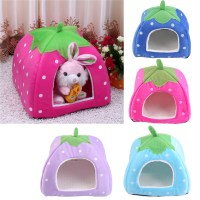 Soft Strawberry Pet Puppy Dog Cat Bed House Kennel Cushion ...