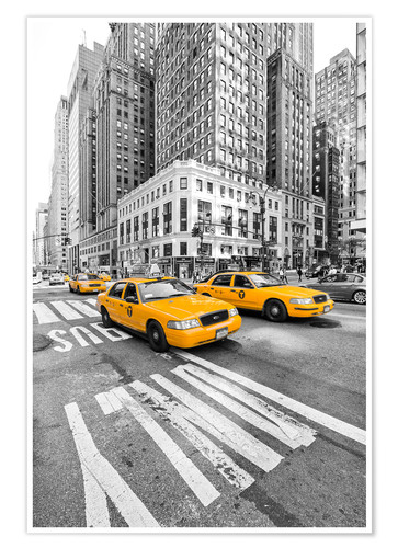 Yellow Taxi Cab New York Posters And Prints