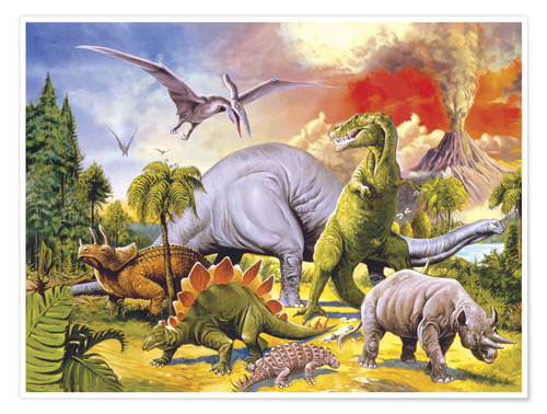 Land of the dinosaurs Posters and Prints  Posterloungecom