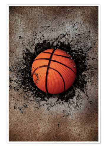 Stone Wall And Basketball Posters And Prints