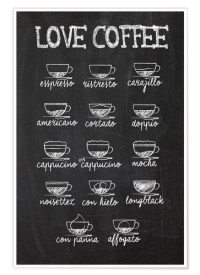 Coffee variants Posters and Prints | Posterlounge.com