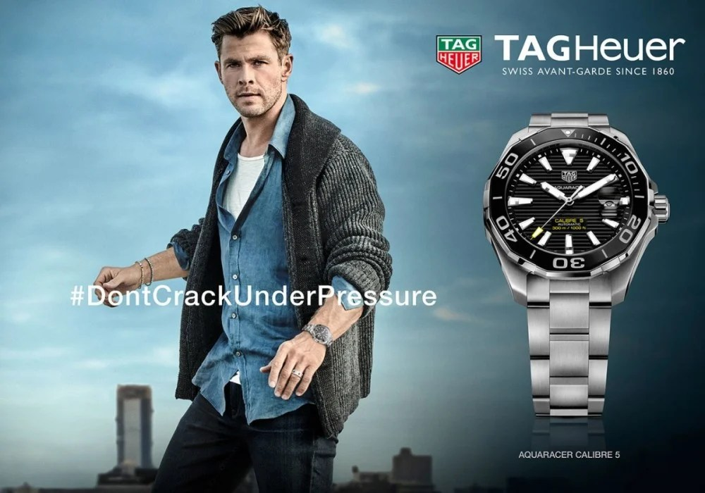 【Chris Hemsworth TAG Heuer腕錶】Thor為品牌拍攝全新形象廣告!個人魅力詮釋品牌精神! | MENELECT