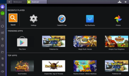 Bluestacks 2 is very smooth & easy to use