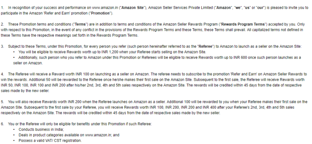 Seller Central REFER AND EARN Amazon