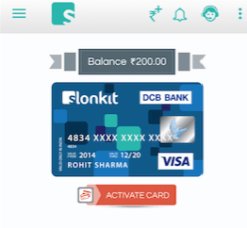 Slonkit Prepaid Card - DCB Bank