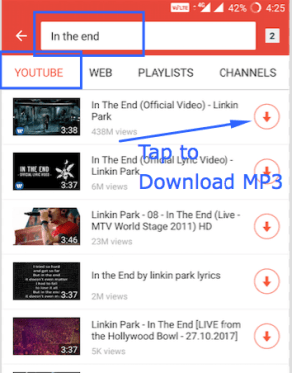 SnapTube app can Download from YouTube & SoundCloud