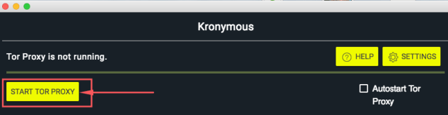 Kronymous - Start Tor Proxy Chrome