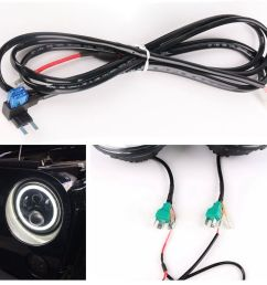 7 led headlight drl extension wiring harness for jeep wrangler jk jku 2007 2017 [ 1000 x 1000 Pixel ]