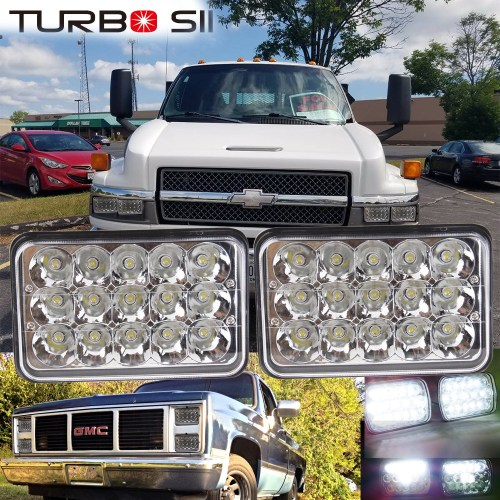 small resolution of details about 2p 4x6 led headlights bulb sealed beam freightliner kenworth t400 t600 peterbilt