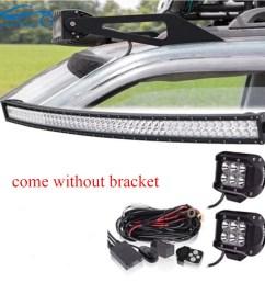 50 curved led light bar wiring harness kit upper lights jeep grand cherokee zj [ 1000 x 1000 Pixel ]