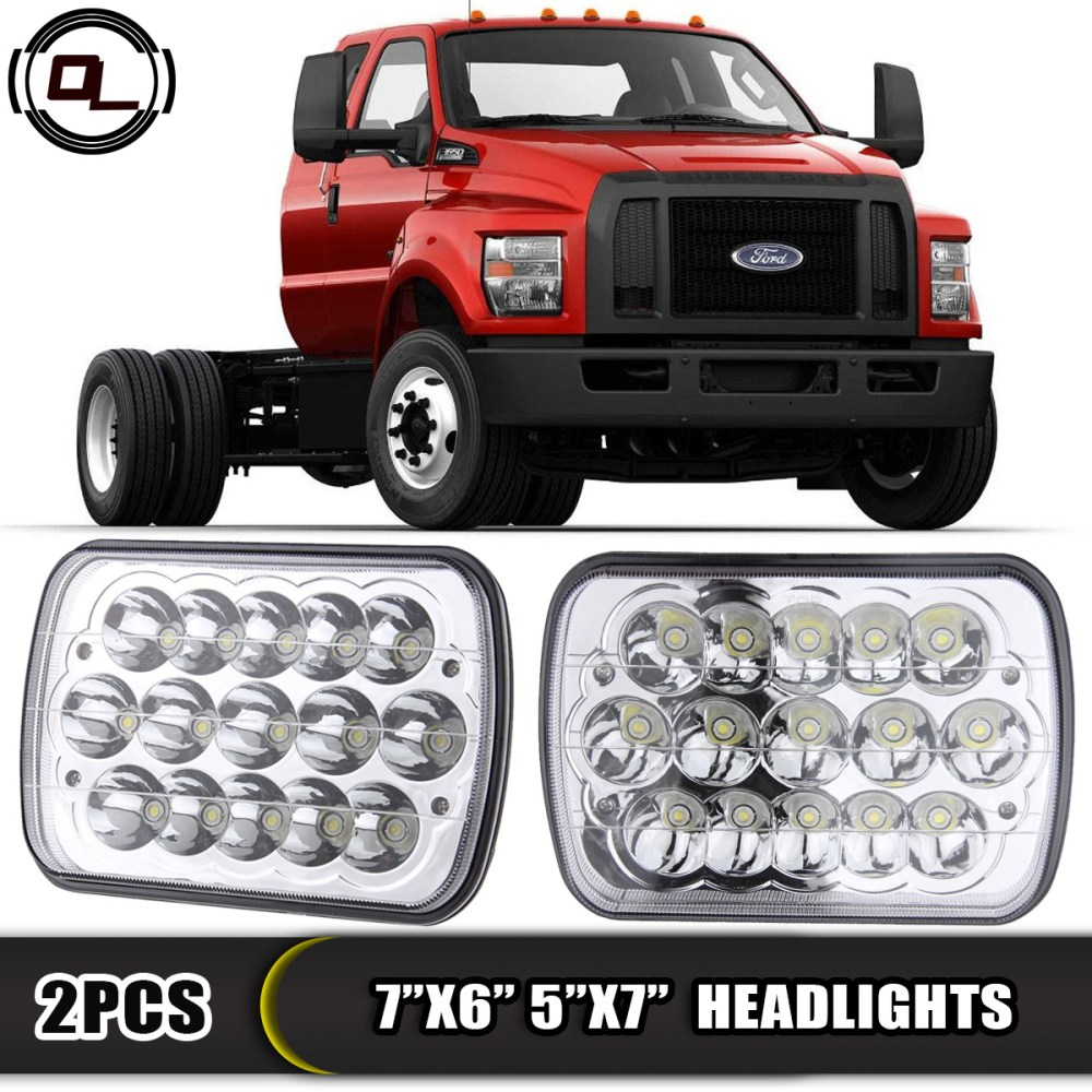 medium resolution of 7 x6 led headlight upgrade for ford super duty truck f550 f600 f650 f700 f750
