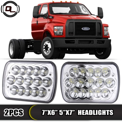 small resolution of 7 x6 led headlight upgrade for ford super duty truck f550 f600 f650 f700 f750