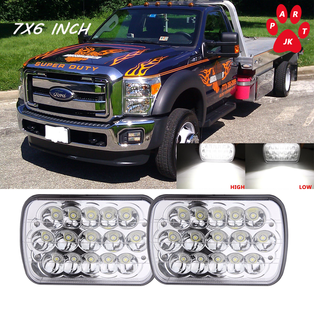 medium resolution of 7x6 led headlight upgrade 5x7 ford super duty truck f550 f600 f650 f700 f750