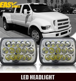 7 x6 led headlight upgrade for ford super duty truck f550 f600 f650 f700 f750 [ 1000 x 1000 Pixel ]