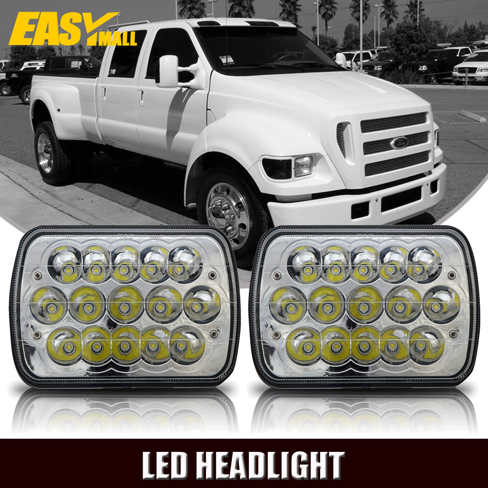 hight resolution of 7 x6 led headlight upgrade for ford super duty truck f550 f600 f650 f700 f750