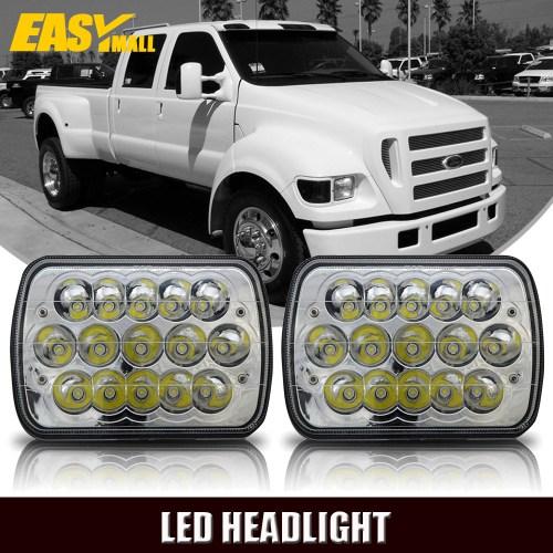small resolution of 7 x6 led headlight upgrade for ford super duty truck f550 f600 f650 f700 f750