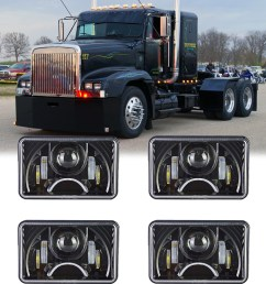 details about 4x led headlights for freightliner fld120 112 toyota cressida 4x6 sealed beam [ 1000 x 1000 Pixel ]