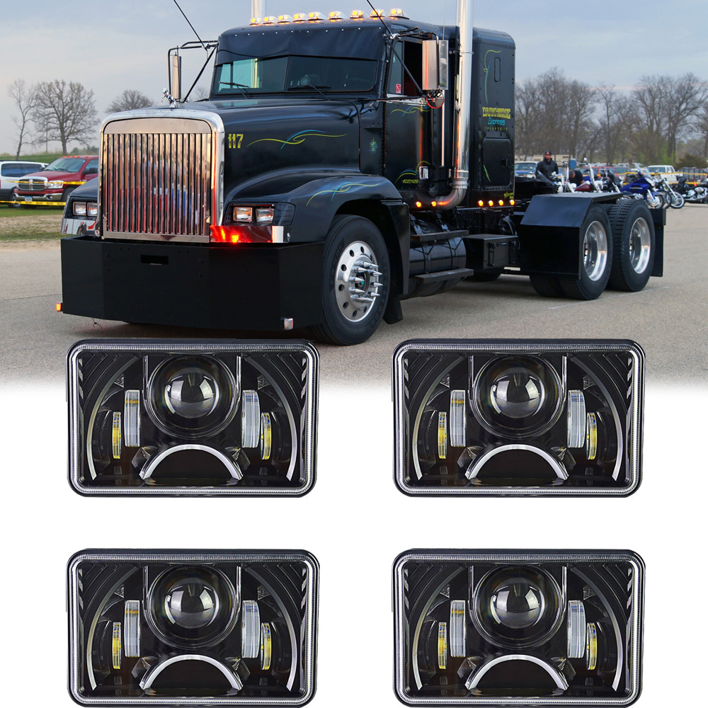 hight resolution of details about 4x led headlights for freightliner fld120 112 toyota cressida 4x6 sealed beam