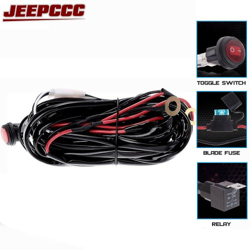 small resolution of 40a 312w wiring harness 1 lead led light bar relay blade fuse toggle switch