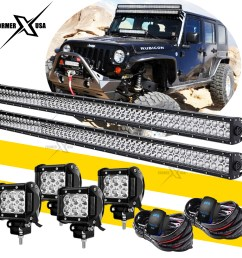 details about pair 52 led light bar 4x 4 pods fog lights wiring harness kit for jeep wrangler [ 1200 x 1200 Pixel ]