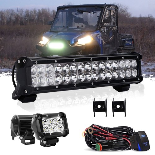 small resolution of details about 14 inch bumper led light bar pod light kit for club car ezgo yamaha golf cart