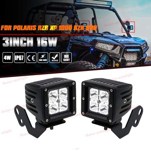 small resolution of details about fits polaris rzr xp 1000 rzr 900 side pillar mount bracket led cube fog lights